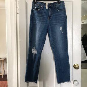 High Rise slim boyfriend jeans NWT
